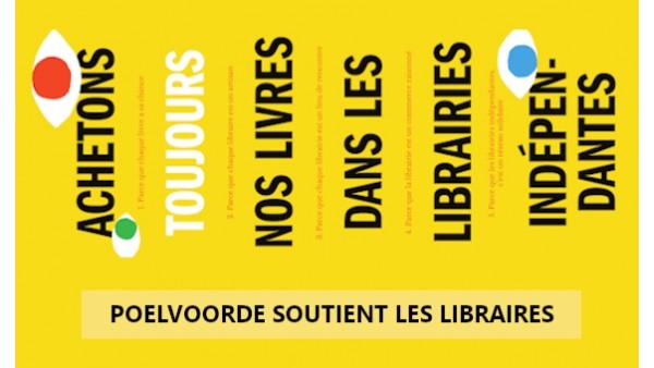 Poelvoorde soutient les libraires